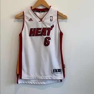 Adidas NBA Miami Heat Lebron Janes 6 Kid's Tank